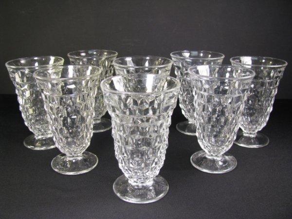 16: EIGHT FOSTORIA GLASS AMERICAN CLEAR 2056 ICE TEA