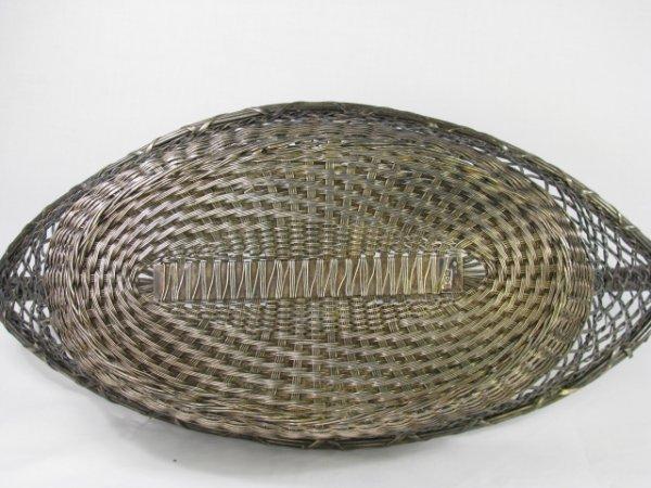 176: SILVER PLATE WOVEN BREAD BASKET - 8