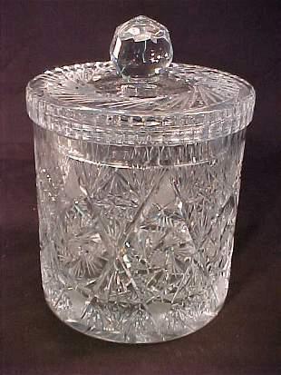CUT GLASS PINWHEEL BISCUIT BARREL CAKE P