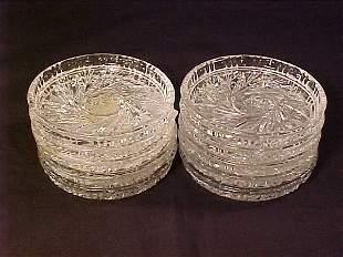 PINWHEEL PATTERN GLASS COASTERS 10 pc