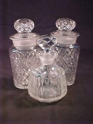 CUT GLASS APOTHECARY JARS DECANTER