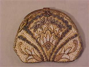 VINTAGE HAND BEADED FRENCH EVENING BAG