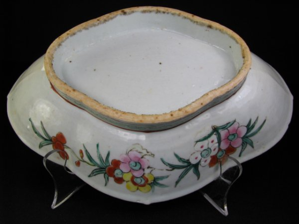 304: 19th c CHINESE FAMILLE ROSE SHALLOW BOWL