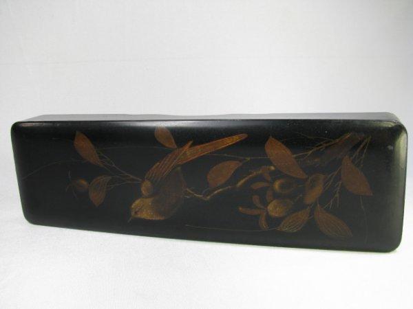 318: CHINOISERIE LACQUER GLOVE BOX