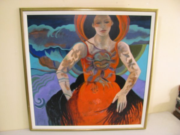 609: BARBARA GALLAGHER - UNTITLED (WOMAN IN RED DRESS)