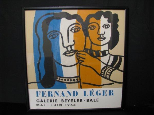 670: MOURLOT FERNAND LEGER LITHOGRAPH POSTER 1964