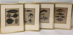 FOUR 19TH C ENGRAVINGS BY J PASS ATER MARCUS BLOCH