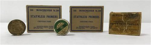 ANTIQUE CAPS FIREARM PRIMERS WINCHESTER REPEATING ARMS