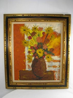 203: FLORAL STILL LIFE PAINTING SIGNED ZEPEDA