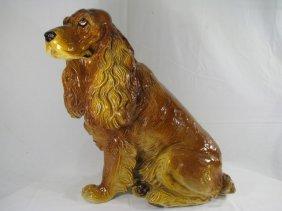205: ITALIAN POTTERY COCKER SPANIEL DOG LIFE SIZE