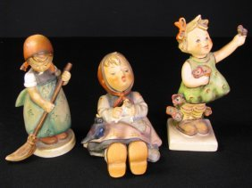 THREE HUMMEL PORCELAIN FIGURINES