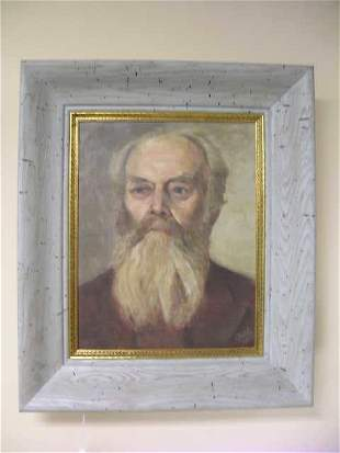 CONTINENTAL OIL BOARD PAINTING MAN SIGNED