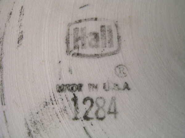 541: EXTRA LARGE HALL POTTERY BLACK CENTERPIECE BOWL - 5