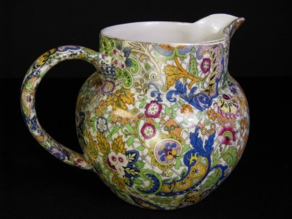 600: ENGLISH CHINTZ WARE PITCHER OR JUG PAISLEY PATTERN
