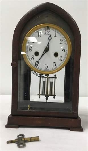 ANTIQUE WATERBURY BEEHIVE MANTEL CLOCK