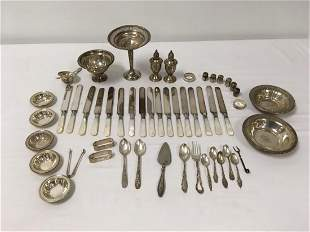STERLING SILVER TABLEWARES, FLATWARE, ETC.