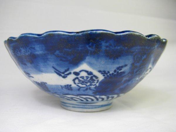 5: FLOW BLUE BOWL: ORIENTAL PATTERN