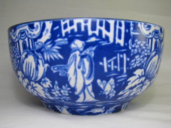 7: WILKINSON FLOW BLUE BOWL: ORIENTAL PATTERN