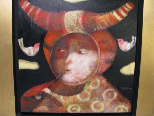 146: LATIN AMERICAN SURREALIST OIL PAINTING ALFARO 05
