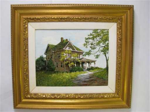 293 Carol Sadowski Oil Painting House On A Hill