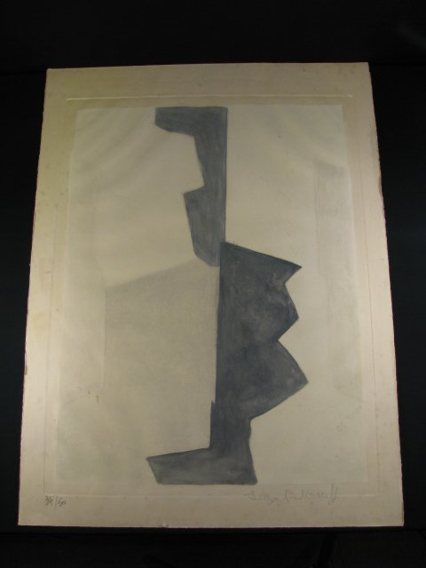 351: SERGE POLIAKOFF LITHOGRAPH BLACK & WHITE SIGNED