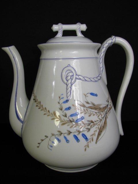 355: STAFFORDSHIRE c.1850 WHITE IRONSTONE COFFEE POT