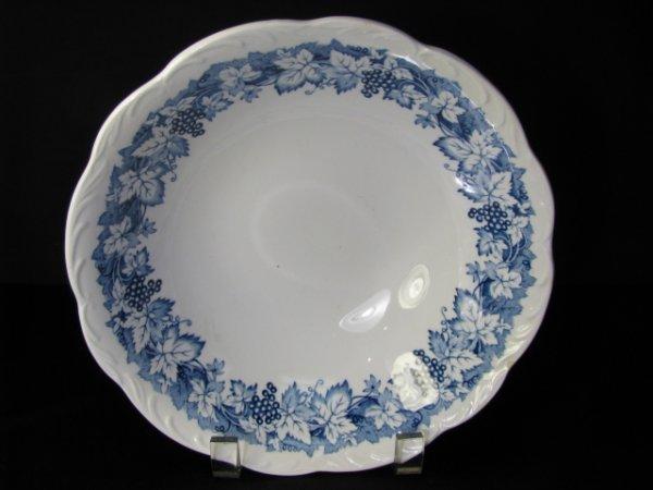 356: STAFFORDSHIRE BLUE TRANSFER DECORATED BOWL: VINE
