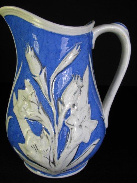 359: ENGLISH BLUE WHITE PARIAN PITCHER