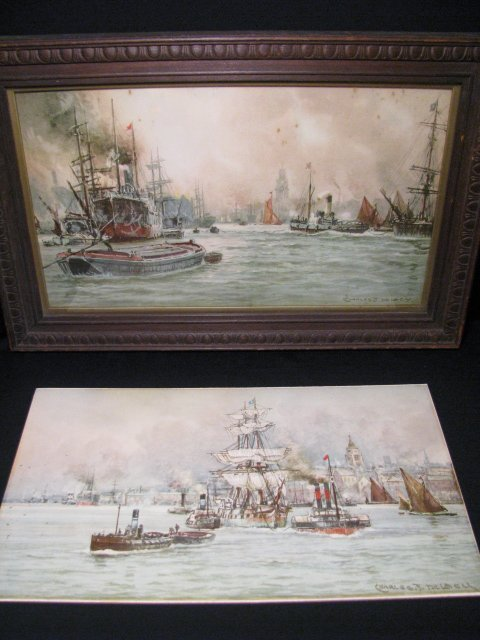 362: TWO CHARLES J. DE LACY WATERCOLOR PAINTINGS