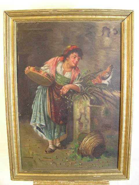 363: OIL ON BOARD PAINTING GYPSY WOMEN SIGNED KNOX