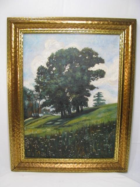 374: LANDSCAPE OIL ON CANVAS PAINTING SIGNED