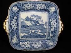 WEDGWOOD BLUE PLATE FALLOW DEER CIRCA 1900