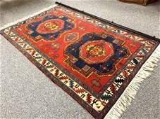 VINTAGE PERSIAN QASHQAI HAND KNOTTED WOOL RUG 4x7