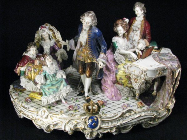33: MONUMENTAL RUDOLSTADT PORCELAIN FIGURAL GROUP