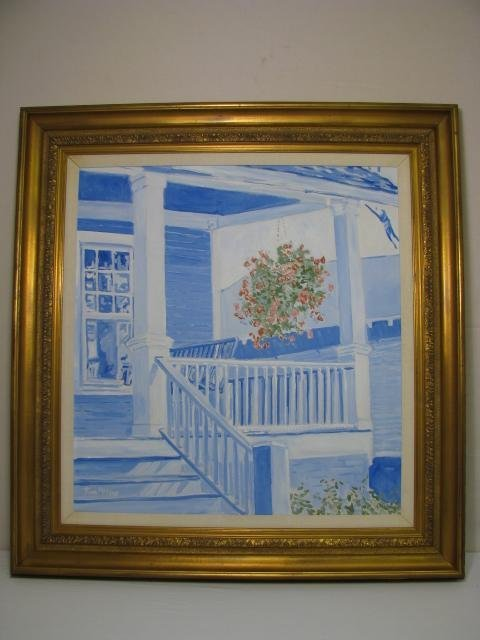 """312: PAINTING: THOM MILLSAP """"FRONT PORCH 1"""""""