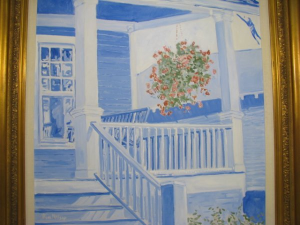 """312: PAINTING: THOM MILLSAP """"FRONT PORCH 1"""" - 2"""