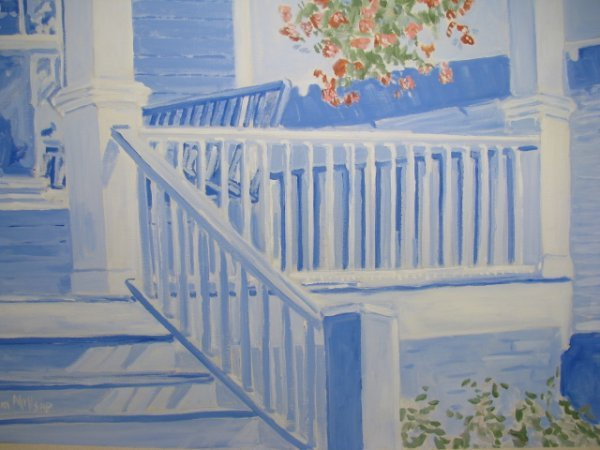 """312: PAINTING: THOM MILLSAP """"FRONT PORCH 1"""" - 3"""