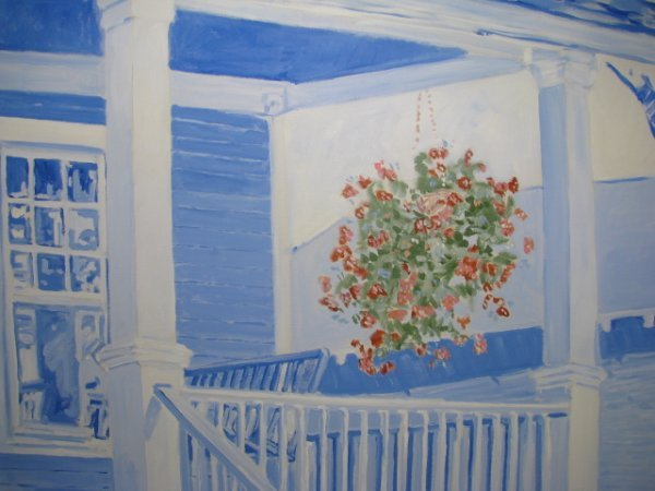 """312: PAINTING: THOM MILLSAP """"FRONT PORCH 1"""" - 4"""