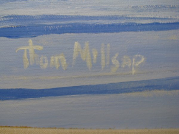 """312: PAINTING: THOM MILLSAP """"FRONT PORCH 1"""" - 5"""