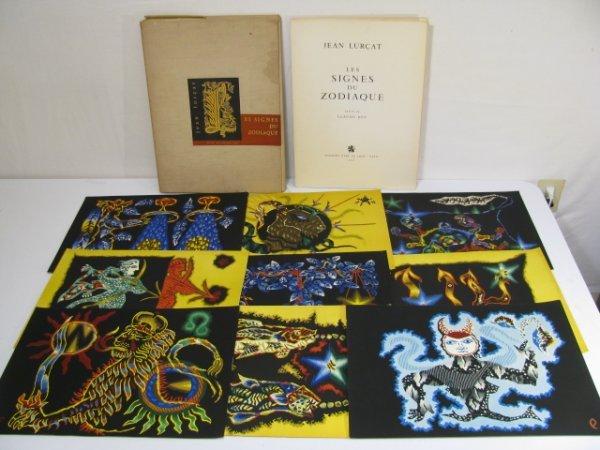 410: JEAN LURCAT LITHOGRAPHS SIGNES DU ZODIAQUE 1959