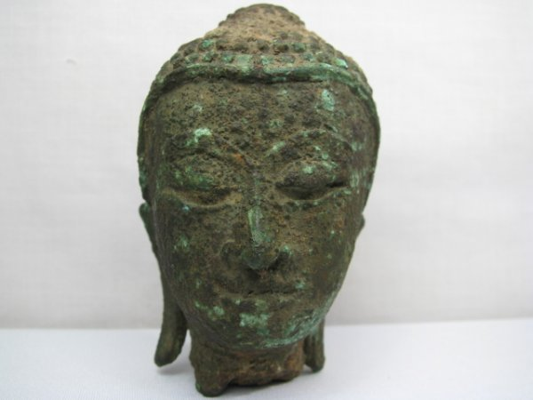 417: SMALL SOUTH ASIAN ARCHAIC BRONZE FRAGMENT