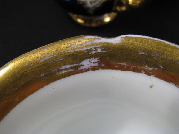 638: MEISSEN COBALT BLUE & WHITE PORCELAIN TEA SET 10pc - 8