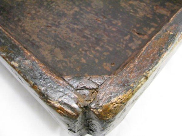 900: LG 19TH CENTURY CHINESE PAINTED WOOD BOX - 9