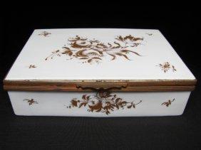 908: ORLIK PORCELAIN HAND FLORAL CIGARETTE TRINKET BOX