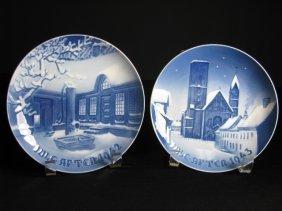 1037: BING & GRONDAHL CHRISTMAS PLATES 1942 1943