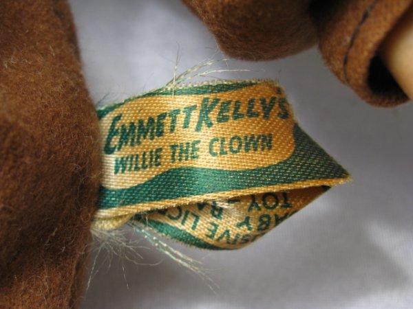 1171: EMMET KELLY HOBO CLOWN DOLL w REPUBLICAN PINS - 10