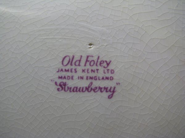 1199: JAMES KENT OLD FOLEY STRAWBERRY DINNERWARE 9 PCS - 10