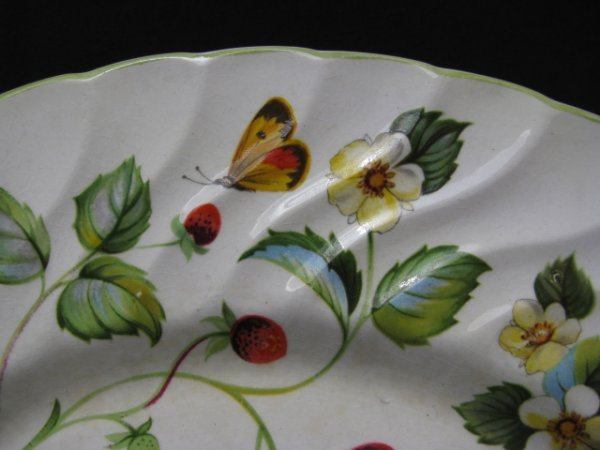 1199: JAMES KENT OLD FOLEY STRAWBERRY DINNERWARE 9 PCS - 5