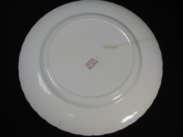 1199: JAMES KENT OLD FOLEY STRAWBERRY DINNERWARE 9 PCS - 8