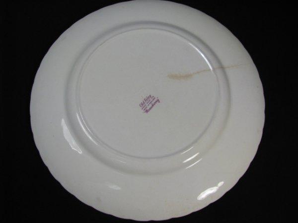 1199: JAMES KENT OLD FOLEY STRAWBERRY DINNERWARE 9 PCS - 8
